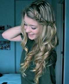 curly braided hair.