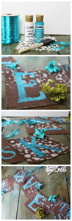 DIY Burlap banner