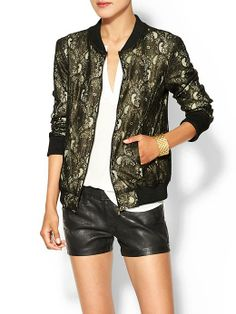 Piperlime | Lace Bomber Jacket