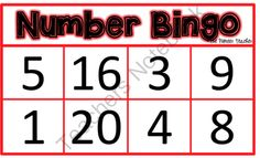 Number Bingo (Recognizing Numbers 1-20) from Pioneer Teacher on TeachersNotebook.com -  (35 pages)  - Play Number Bingo to help your students learn the numbers 1-20. There is a class set of 30.
