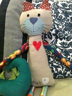 animals, softi, stuf anim, fabric cats, baby toys