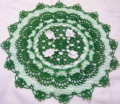 St Patrick green  lace crochet thread spring