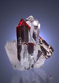 Hubnerite with Quartz. Huayllapon Mine, Pallasca Province, Peru