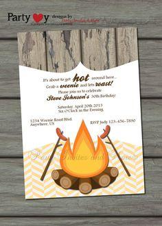 Weenie Roast Adult Birthday Party by PartyInvitesAndMore on Etsy, $8.00