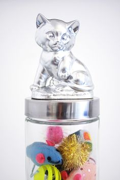 jar lid images, kitten | -peasy diy. All you need is your cat figurine, a glass jar with a lid ...