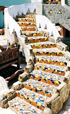 Stairway in the Amar Sina hotel in Sharm-el-Sheikh, Egypt