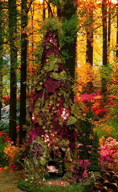 Fairy House Plumeria Magic Woodland by WoodlandFairyVillage