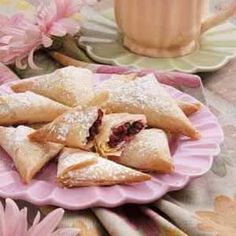 Cranberry Phyllo Triangles Recipe from Taste of Home