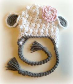 Little Lamb Crochet Hat, Photography Prop, Halloween, Winter Hat