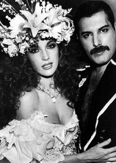 Freddie Mercury and Jane Seymour Fashion Aid Event 1985