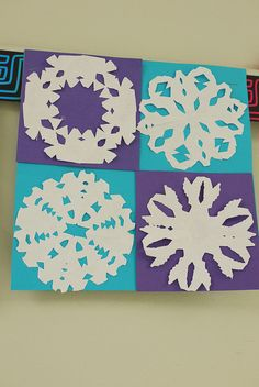 snowflake quilt. Done by my students last year.