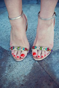 Prada Jeweled Sandals