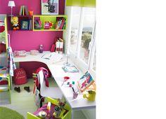 KIBUC, muebles y complementos - Dormitorio juvenil Niko de Kibuc. Zona de estudio.