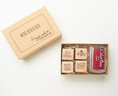 Teacher Gift Set - Teacher Stamp Set - Hand lettered and hand drawn set of mini stamps for teachers READY TO SHIP