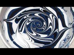 Midnight Swirl Water Marble Nail Art Tutorial