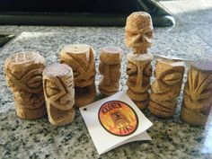 Wine Cork Tiki -- Tiki Central - these are great!