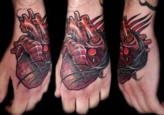 Pretty gnarly heart hand face thing by David Rudziński at Theatrum Symbolica in Warsaw, Poland