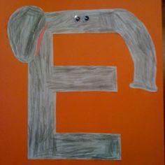 Letter E craft