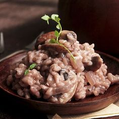 Red Wine Mushroom Risotto Recipe
