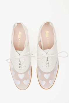 Heartbreaker Oxfords // leather & mesh with hearts ...super cute!