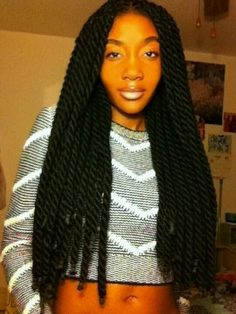 Brilliant Yarn Braids (protective hairstyle) - I really like this! It's just gorgeous!!