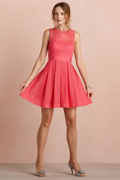 "Not sure how exactly ""hot pink"" this is, but love it!  Theorem Dress from BHLDN"