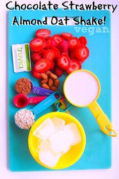 Undressed Skeleton — Vegan Chocolate Strawberry Almond Oat Shake
