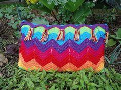 Crochet Ripple Pattern Pillow - The Merry Cherub