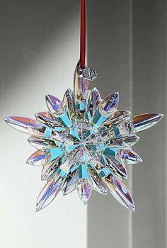Baccarat Courchevel Iridescent Snowflake 2013 Ornament