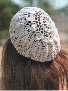 crochet lace ladies beret