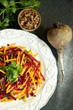 Raw Beets and Butternut Slaw by Apron Strings Blog, via Flickr