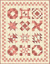 2009: 4-Patch Frolic BOM quilt from Sun Drop Designs