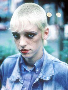 skinhead girl. #blonde #skinhead #punk #chelsea #hair