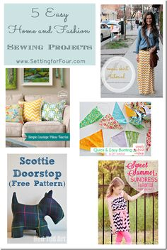 5 Easy Home and Fashion Sewing Projects