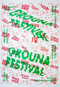 Affiche. Grouna Festival. Genève.