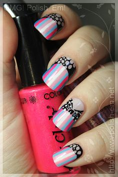 Polk a dot bow and upside down french