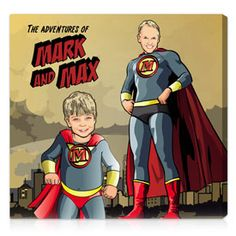 comic book artwork & gifts | superhero gifts on canvas