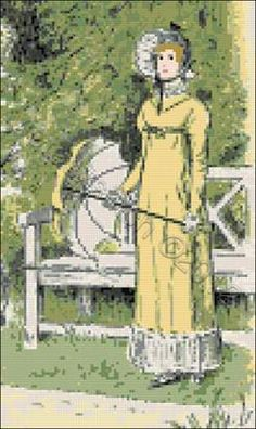 Elisabeth Bennet - Pride and prejudice cross stitch kit, pattern