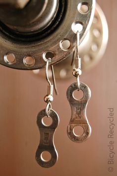 Single Bicycle Link Earrings