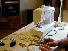 How to Make Doll Shoes - V Sandals Pt. 4