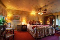 Guest room at Mill Rose Inn.