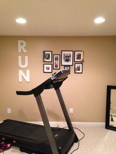 Basement workout room