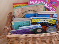 calm, short, rice, meditation kids, boxes, baskets, glitter jars, kids meditation, coloring books