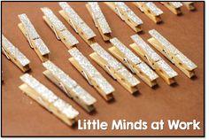 glitter clothes pins!