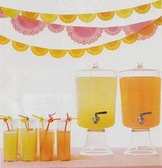 orange drink in my glass drink dispenser