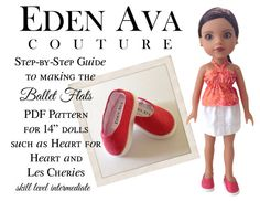 Eden Ava Couture Ballet Flats Pattern for 14 by EdenAvaCouture, $3.99 cloch hat, ava coutur, hat sew, hat patterns, american girl, sew pattern, eden ava, cloche hats, sewing patterns