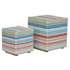 I pinned this Jeffan 2 Piece Funstripes Storage Stool Set from the Mexicana event at Joss and Main!