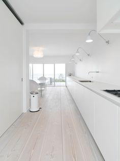 interior, floor, white kitchens