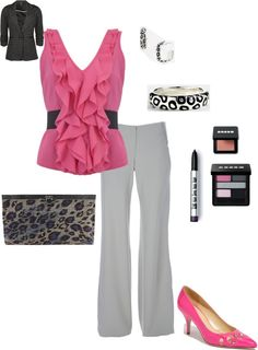 """""""Summer Wednesday Work Outfit"""" by polished-silver on Polyvore"""