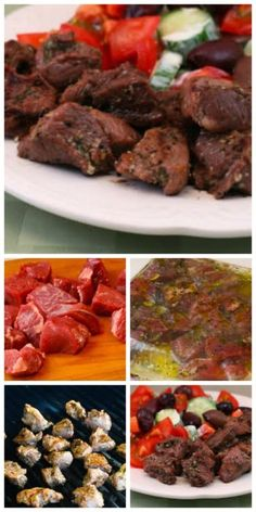 Easy Lamb Souvlaki Recipe: Grilled Lamb Cubes Cooked Greek Style [from KalynsKitchen.com] #LowCarb #GlutenFree #SouthBeachDiet #Lamb